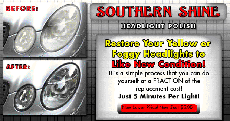 how to clean yellowed plastic headlights